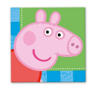Peppa Pig 16 tovaglioli blu 33x33cm festa party