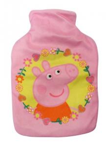 Peppa Pig borsa bottiglia acqua calda scaldaletto peluche velcro