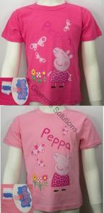 Peppa Pig farfalle T-Shirt maglia bambina manica corta nuova cotone