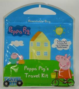 Peppa Pig travel kit viaggio disegni matite colori