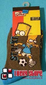 Simpson Bart calcio calzini bambino 27/30 marrone azzurro