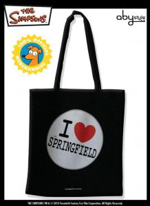 I Simpson borsa spesa in cotone I Love Springfield Simpsons