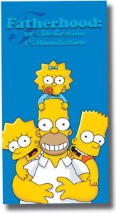 Simpson Fatherhood Telo Mare asciugamano 75 x 150 cm cotone