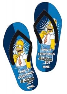 Simpsons Homer Fault Infradito Uomo Ciabatte Mare Piscina