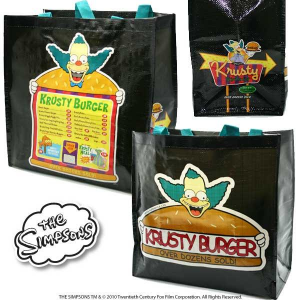 Simpsons Krusty Burger borsa spesa PVC