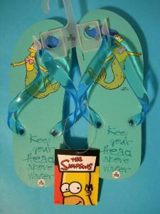 Simpsons Marge Sirena Infradito Ragazza Ciabatte Mare Piscina