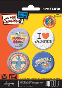 Simpson set 4 spille badge Springfield
