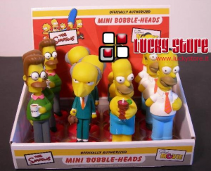 Simpsons mini bobble head 13 cm Figure Homer Mr Burns Flanders Originale