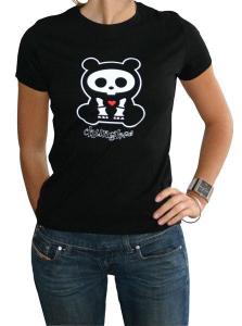 Skelanimals Chungkee Orsetto T-Shirt donna manica corta nuova cotone