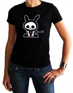 Skelanimals Jack Coniglio T-Shirt donna manica corta nuova cotone