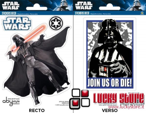 Star Wars Darth Vader mini stickers 2 fogli adesivi rimovibili