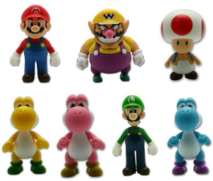 Super Mario Bros action figure 13 cm originale ufficiale Nintendo nuovo blister