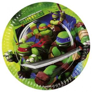 Tartarughe Ninja 8 piatti 23 cm festa party