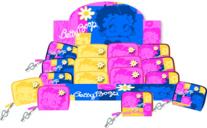 Betty Boop Portafogli Giallo Ricamo Strass
