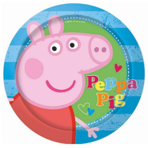 Peppa Pig 8 piatti blu festa party