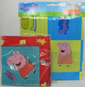 Peppa Pig set tovaglia PVC e Tovaglioli