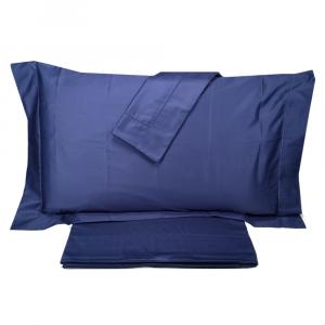 Completo lenzuola matrimoniale Maxi in raso DONDI 270X290 Leonardo blu