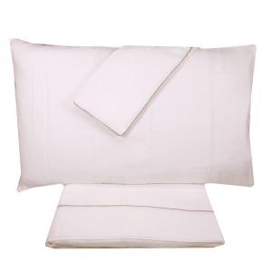 Completo lenzuola matrimoniale puro lino MARZOTTO-LANEROSSI bianco