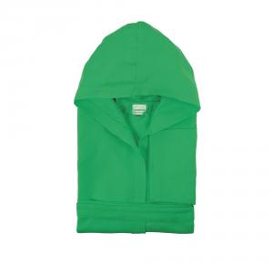 Accappatoio con cappuccio in microfibra Bassetti  TIME  UNISEX - Verde menta 1258