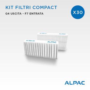 Kit ricambio filtri Compact - CONF. PROMO x30 - per Alpac VMC Compact, Iki e Shu e Climapac VMC Compact, Aliante, Arias