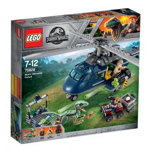 LEGO JURASSIC PARK I8NSEGUIMENTO SULL'ELICOTTERO DI BLUE 75928