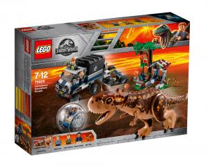LEGO JURASSIC PARK FUGA DAL CARNOTAURUS SULLA GIROSFERA 75929