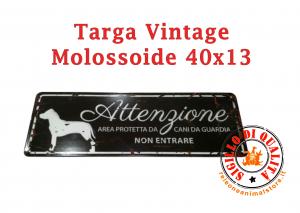 Cartello Targa Metallo Vintage