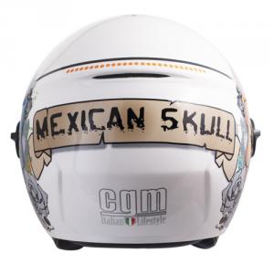 Casco jet CGM 107S Cancun visiera lunga bianco metal