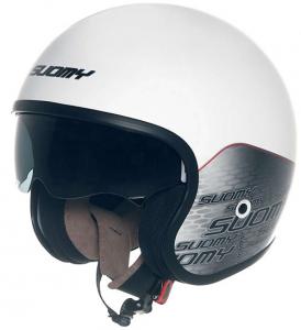 Casco moto Suomy JET 70's Home in fibra bianco