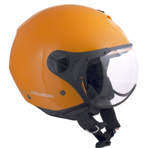 Casco jet CGM 107A Florence visiera sagomata arancione metal