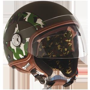 Casco jet Helmo D-Day Verde opaco
