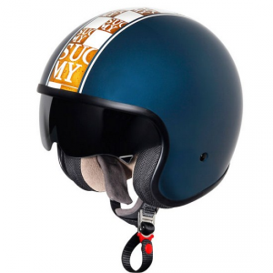 Casco moto Suomy Jet 70's Chic Blue