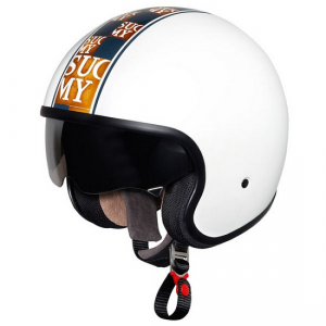 Casco moto Suomy Jet 70's Chic White