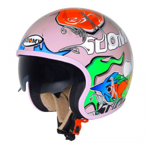 Casco moto Suomy Jet 70's Pink Drake