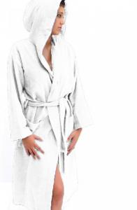 Accappatoio leggero microspugna per sport e viaggi taglia 46/48 medium - bianco