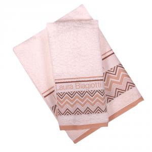 Set 1+1 asciugamano e ospite in spugna LAURA BIAGIOTTI Alessandria panna