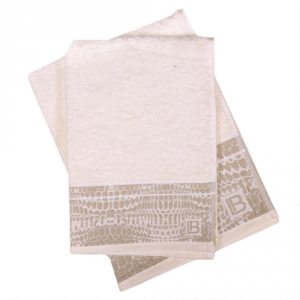 Set 1+1 asciugamano e ospite in spugna LAURA BIAGIOTTI Gaeta panna