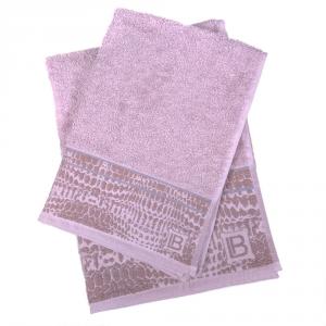 Set 1+1 asciugamano e ospite in spugna LAURA BIAGIOTTI Gaeta grigio