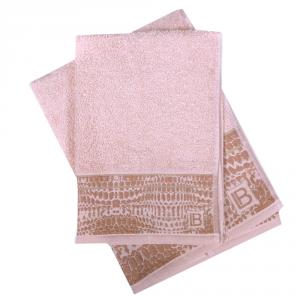 Set 1+1 asciugamano e ospite in spugna LAURA BIAGIOTTI Gaeta nocciola