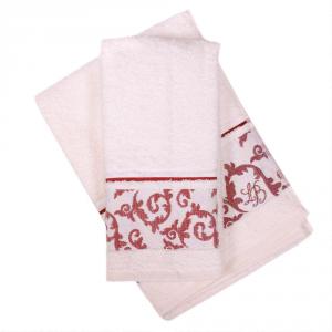Set 1+1 asciugamano e ospite in spugna LAURA BIAGIOTTI Verona panna