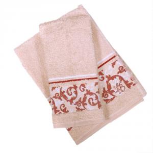 Set 1+1 asciugamano e ospite in spugna LAURA BIAGIOTTI Verona nocciola