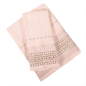 Set 1+1 asciugamano e ospite in spugna LAURA BIAGIOTTI Augusta beige