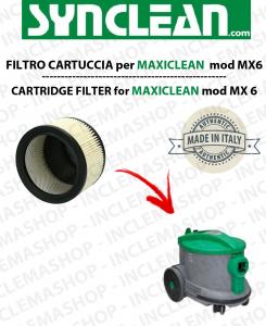 MX 6  FILTRO CARTUCCIA PER aspirapolvere maxiclean - cod: 2512755 - SYNCLEAN
