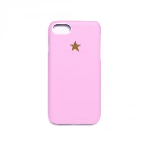 Cover in ecopelle rosa marchiata oro a caldo per iPhone vari modelli