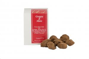 Cioccolatini Tartufi al cioccolato Grappa e Miele - 100gr