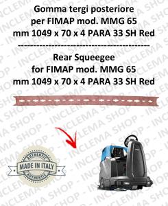 MMG 65 Bavette arrière pour autolaveuses FIMAP