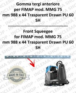 MMG 75 goma de secado delantera para fregadora FIMAP