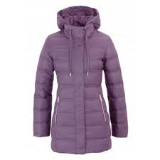 EA7 Down Jacket W Montana Grape
