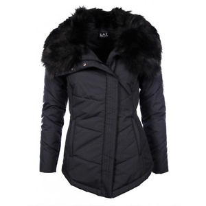 EA7 Caban Coat Ecofur W Nero