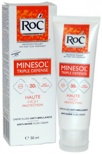 ROC - Minesol Triple Defense Spf 30 Crema Fluida Anti-effetto Lucido 50 ml